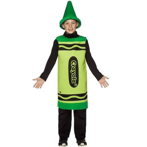 Rasta Imposta Crayola Green Child Costume (7-10) - Solid