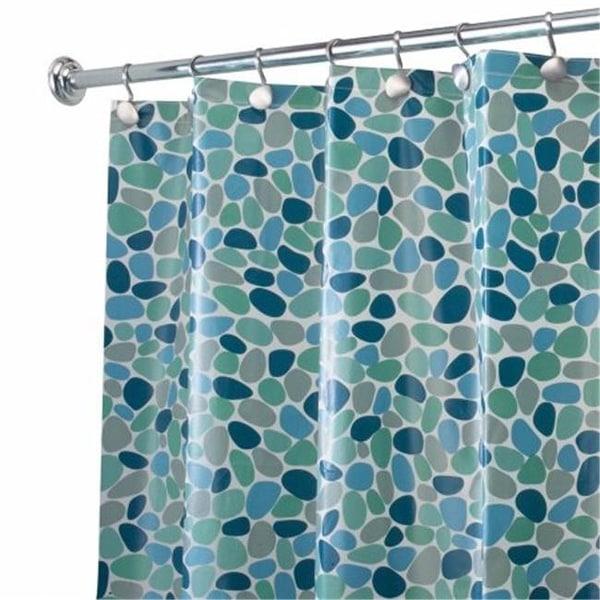 Shop InterDesign 28081 River Rock Shower Curtain Blue