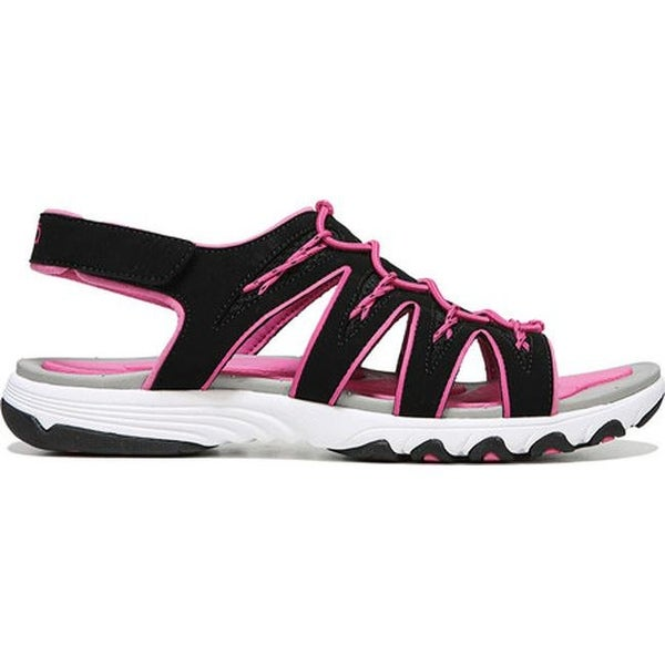 Glance SML Sandal Black/Athena Pink