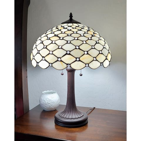 "Tiffany Style Chandelle Table Lamp 25"" AM1041TL16B Amora Lighting"