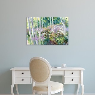 Easy Art Prints Julie G. Pollard's 'Aspen Glade' Premium Canvas Art