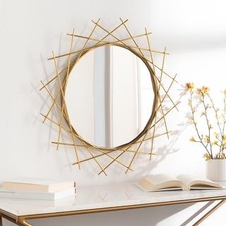 """Warryn Golden Minimalist Sunburst 24-inch Mirror - 24""""H x 24""""W"""