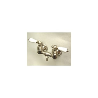 """Elements Of Design DT0318CL  Double Handle Wall Mounted Clawfoot Tub Filler with 3-3/8"""" Center, 1-1/2"""" Spout Reach, Porcelain"""