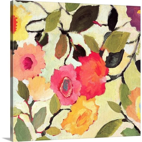 """Wild Roses"" Canvas Wall Art"