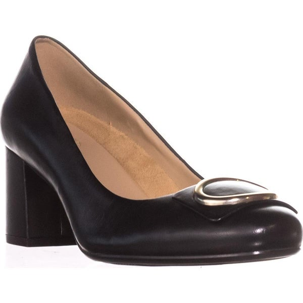naturalizer Wright Block-Heel Pumps, Black Leather