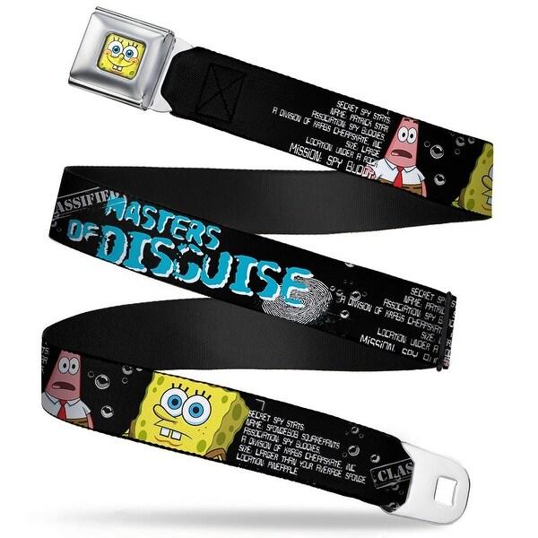 Sponge Bob 3 D Face Close Up Sponge Bob & Patrick Starfish Spy Profile Seatbelt Belt