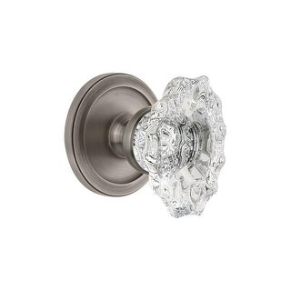 Grandeur CIRBIA_DD_NA Circulaire Solid Brass Rose Dummy Door Knob Set with Biarr - N/A