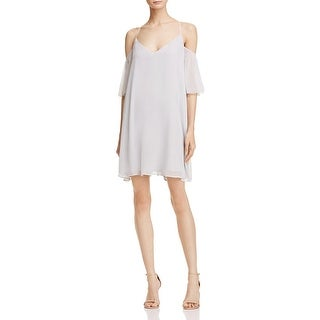 French Connection Womens Constance Casual Dress Crinkled Chiffon