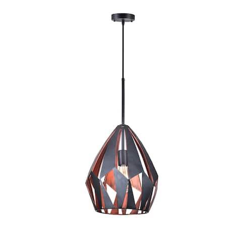Franco Home One Light Pendant Oxide Black/Copper - Exact Size