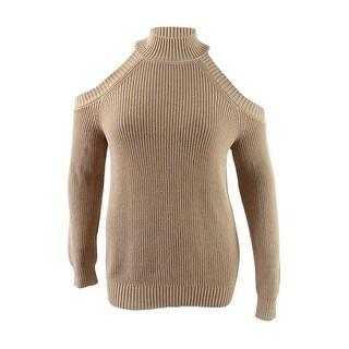 INC International Concepts Women's Cold-Shoulder Sweater - Ginger