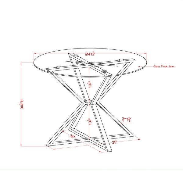 Furniture of America Elfenda Contemporary Gold 41-in Dining Table