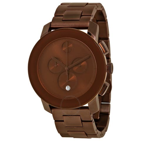Bold Chronograph Brown Dial Brown Ion-plated Men's Watch - N/A