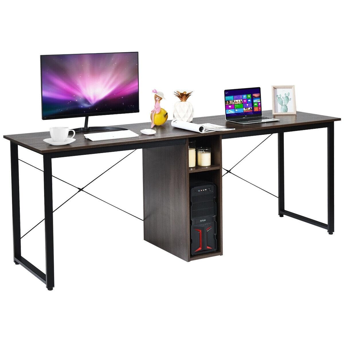 - Shop Gymax 2 Person Computer Desk 79