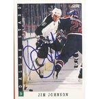 Jim Johnson Dallas Stars 1993 Score Autographed Card This item comes with a certificate of authenticity from Autograp