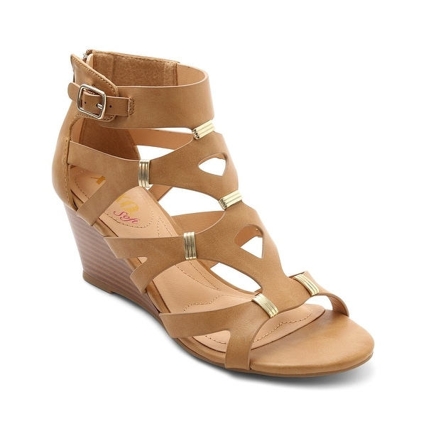 XOXO Womens Sarabeth Open Toe Casual Ankle Strap Sandals