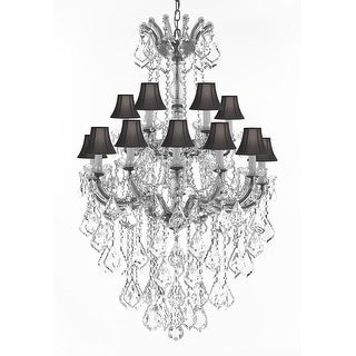 swarovski crystal chandelier with black shades - Swarovski Crystal Chandelier