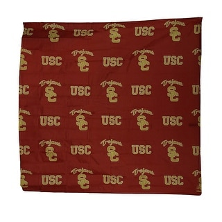 NCAA USC Trojans Fabric Shower Curtain 72x72 inch - Red