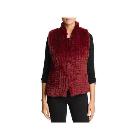 Bagatelle Womens Vest Faux Fur Dressy