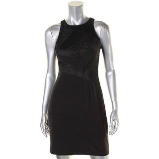 Aidan by Aidan Mattox Womens Party Dress Lace Inset Halter - 2
