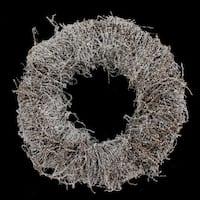 12 Inch Snowy Vine Wreath