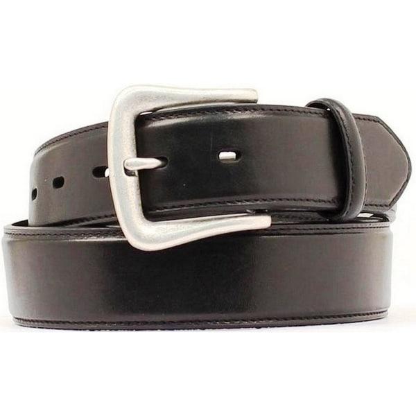 Nocona Western Belt Mens Smooth Leather Basic Black
