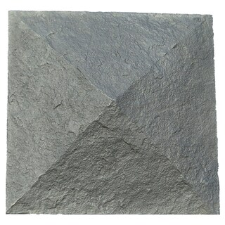 """NextStone Polyurethane Faux Stone 18"""" x 18"""" Column Wrap Cap"""