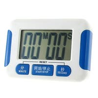 Unique Bargains Home Office Plastic Shell Count Down Up Timer White Blue