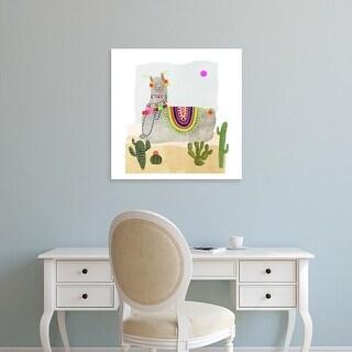 Easy Art Prints Victoria Borges's 'Llamarama IV' Premium Canvas Art