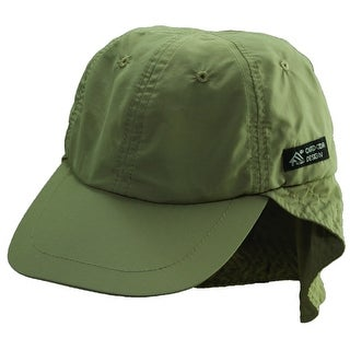 Dorfman Pacific CoolMax Sun Neck Shield Fishing Baseball Hat - Olive - One size