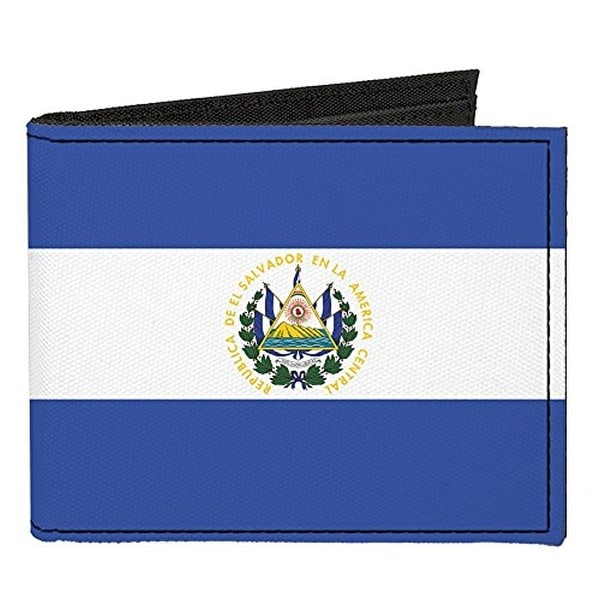 Buckle-Down Canvas Bi-fold Wallet - El Salvador Flag Accessory