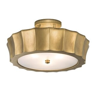 "Norwell Lighting 5652 Isabel Semi 4 Light 20"" Wide Semi-Flush Ceiling Fixture with Matte Opal Shades"