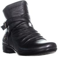 naturalizer Cycle Ankle Boots, Black Leather - 7 w us