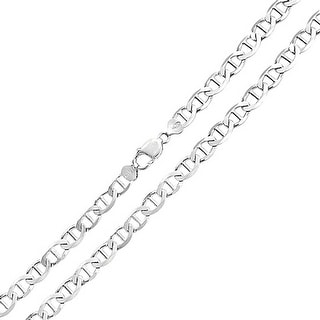 Strong 150 Gauge 925 Sterling Silver Solid Mariner Anchor Chain Necklace For Men For Teen Made In Italy 18 20 24 Inch