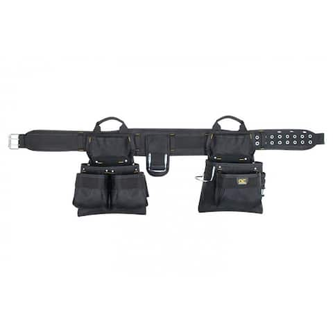 """CLC 5608 Carpenter's 4-Piece Combo Tool Belt with 17-Pockets, Fits 29""""-46"""""""