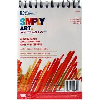 """Simply Art Drawing Pad 6""""X9""""-100 Sheets - 100 sheets"""
