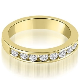 1.00 cttw. 14K Yellow Gold Classic Channel Set Round Cut Diamond Wedding Ring