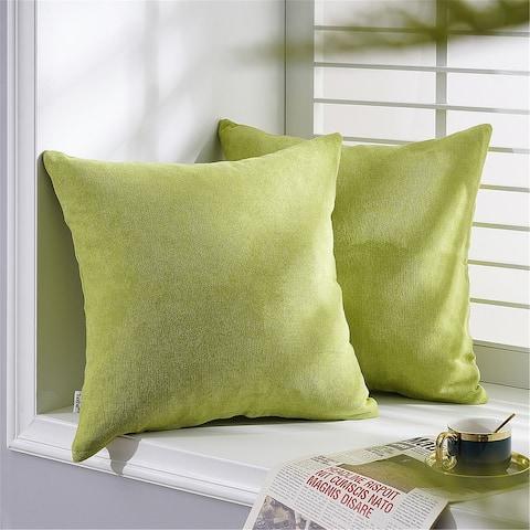 Topfinel Indoor/Outdoor Chenille Throw Pillow Cover (Set of 2)