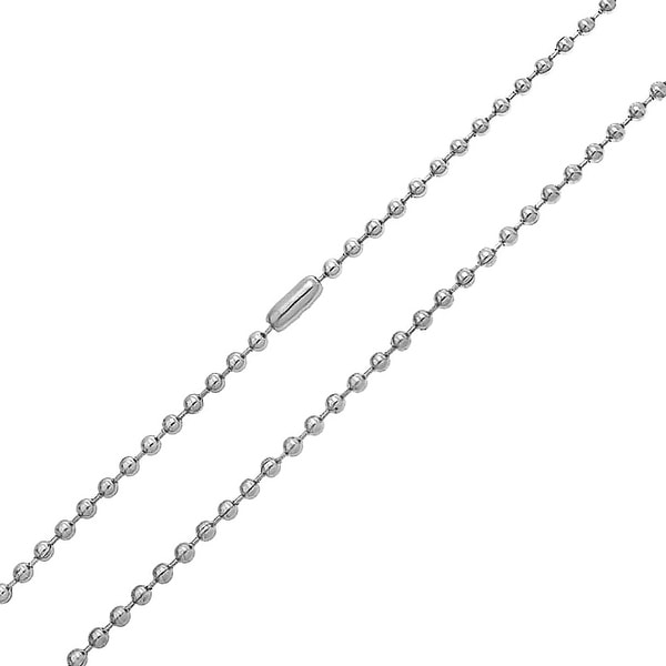 Bling Jewelry Stainless Steel 3mm Unisex Rolo Chain
