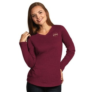 Mississippi State University Ladies Heather Jersey V-Neck Tee