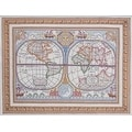 Bucilla World Map Stamped Cross Stitch Kit - Thumbnail 0