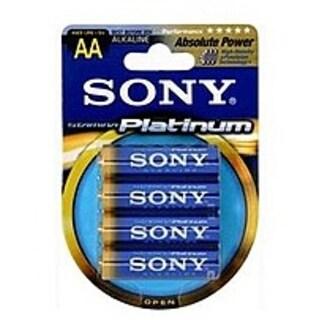 Sony Stamina AM3PTB4A Platinum Alkaline AA Size General Purpose Battery - Alkaline - 1.5V DC - 4-Pac-NEW