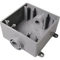 "Cantex 5133371U PVC 2 Gang FSC Switch/Outlet Box, 3/4"""