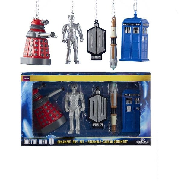 Doctor Who 2.5 2D Printed Ornament Gift Box - 5 Piece Set""