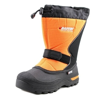 Baffin Mustang Youth Round Toe Canvas Orange Snow Boot