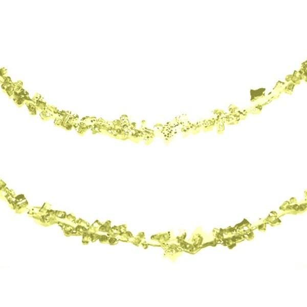 4' Gold Glitter Hanging Christmas Ice Rope Garland