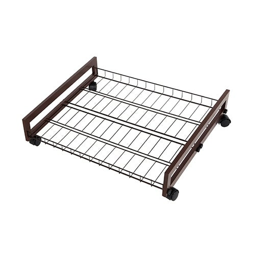 shop tidy living - rolling wire shelf underbed shoe organizer