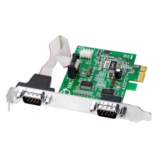 Siig, Inc. - Two 9-Pin Serial (16950 Uart) X1 Pci Express Card