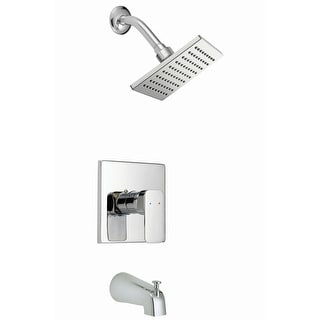 Design House 547604  Tub and Shower Trim Package with Single Function Shower Head and Tub Spout - Polished Chrome