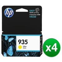 HP 935 Yellow Original Ink Cartridge (C2P22AN) (4-Pack)