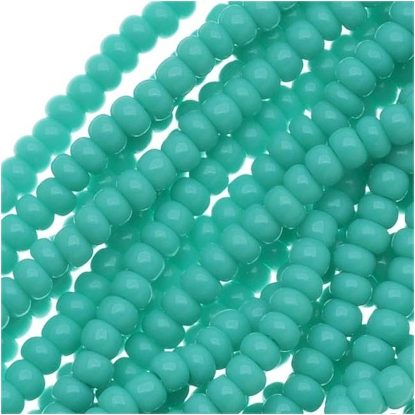 Czech Seed Beads 11/0 Green Turquoise Opaque (1 Hank)